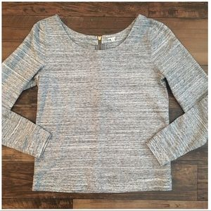J Crew Heathered Grey Heavy Weight Top Pullover M